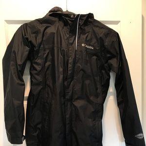Boys black Columbia rain jacket